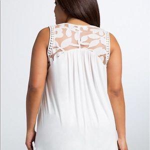 NWT Torrid Lace Inset Knit Hi-Lo Tank Top